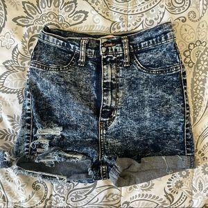Vibrant M.I.U High Waisted Jean Shorts Size 1